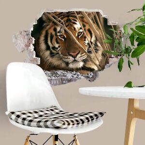 3d wandtattoo tiger tiere natur afrika wandaufkleber - Wandtattoo afrika tiere ...
