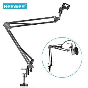 Neewer-Microphone-Mic-Suspension-Boom-Scissor-Arm-Stand-Holder-Stuio-Broadcast