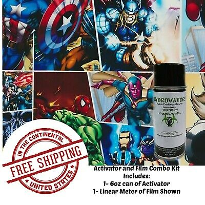 with 6oz Activator Hydro 1 Linear Film Dip Kit Hydrographics Film Hydro Dip Film Hydrographic Film Hydro Dipping Water Transfer Printing Masked Man Kit