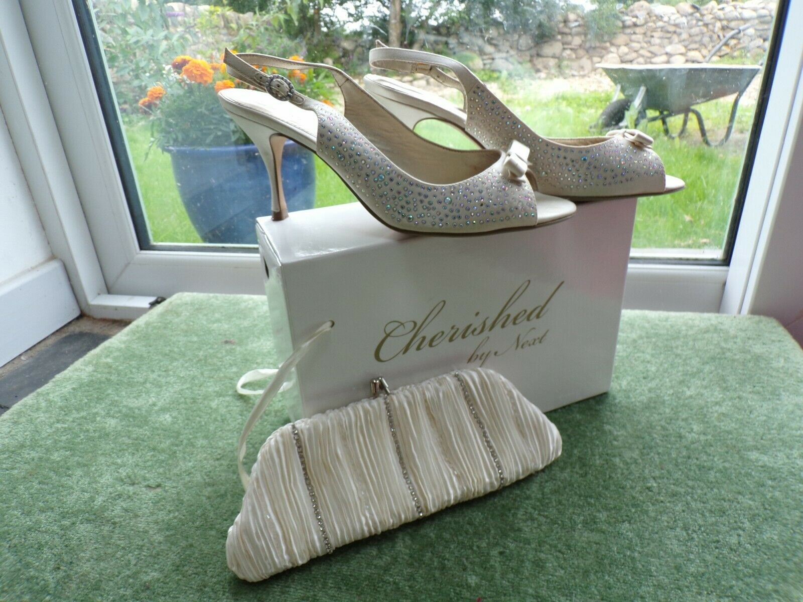 Vintage Style Next Wedding Shoes and Bag size 6