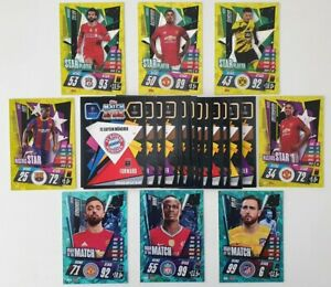 2020-21-Match-Attax-UEFA-Champions-League-Lot-of-50-cards-incl-8-shiny