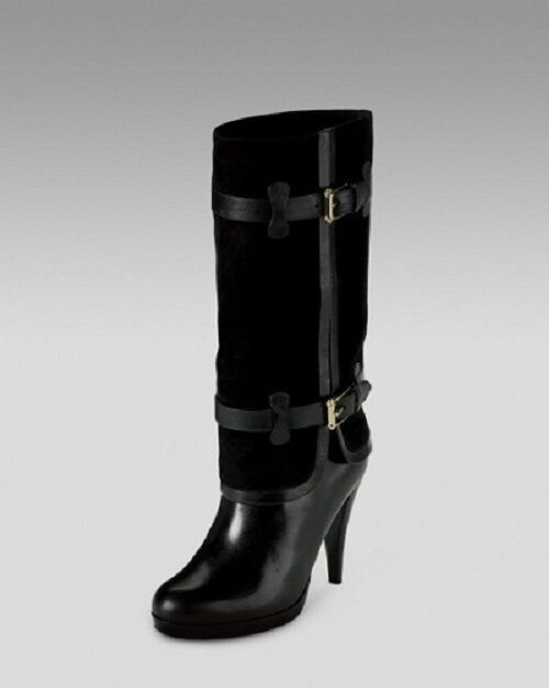 COLE HAAN Donna BLACK AIR KENNEDY BUCKLE BOOTS SHOES 5.5  398.00 5.5 SHOES 9ded6d