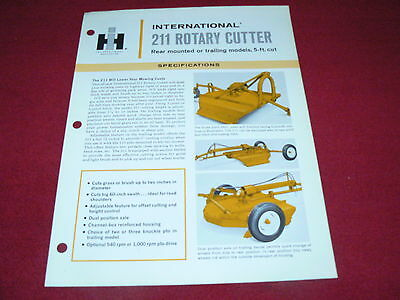 International Harvester 211 Rotary Cutter Dealer/'s Brochure