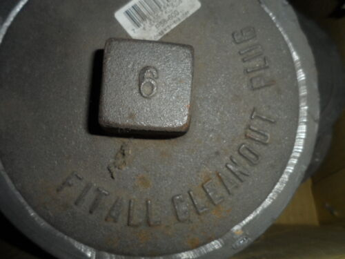 """6/"""" ACTUAL SIZE 6/"""" Fit All Lead Plug Sewer Cleanout Plug FREE S//H"""