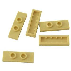 Double Jumper White 5 NEW LEGO Plate Modified 1 x 3 with 2 Studs