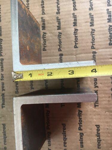"4/"" x 4/"" x 4/"" Long 3//8/"" THICK 2 Steel Angles  Heavy Duty Bracing Brackets Welding"