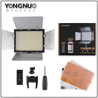Yongnuo YN300 III 3200K-5500K Pro LED Camera LED Video Light for Canon and Nikon