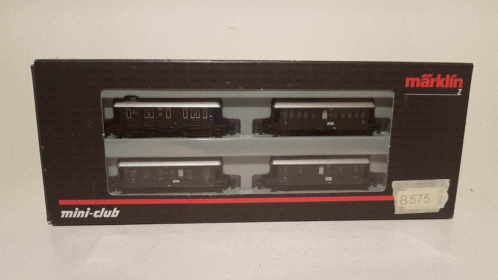 87681 langenschwalbacher 4 Pezzi-Set Traccia Z MINI CLUB IN SCATOLA ORIGINALE  b575