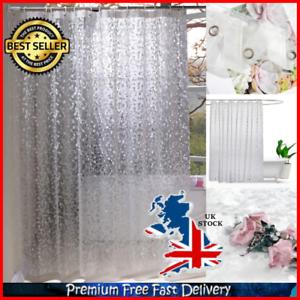 Image Is Loading EVA Semi Transparent Bathroom Extra Long Shower Curtains