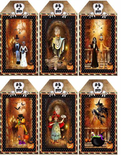 Emo goth Tag Forme Halloween Brillant Finition Fabrication Carte Topper//Artisanat
