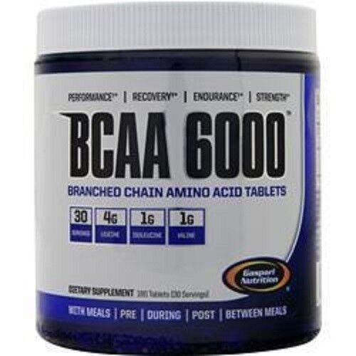 Gaspari Nutrition BCAA 6000 180 Tabs Branch Chain Amino Acids Repair Recovery