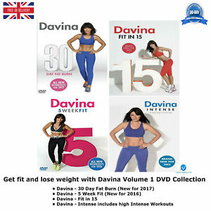 GET-FIT-AND-LOSE-WEIGHT-WITH-DAVINA-VOLUME-1-DVD-COLLECTION-NEW-Sealed-R2-UK-Rel