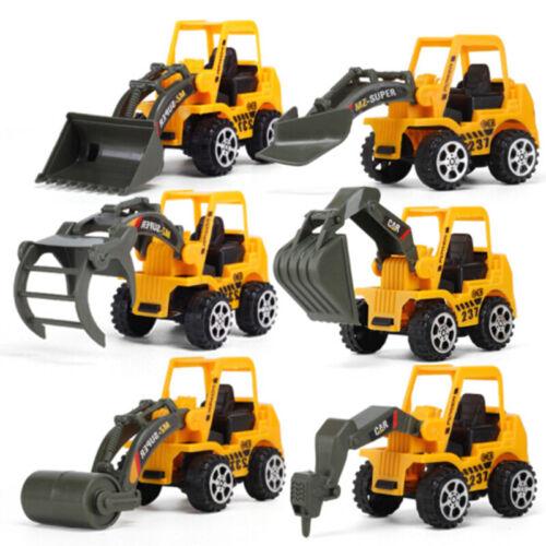 6PCS Kids Mini New Construction Truck Car Model Toy Digger Excavator Gifts Set