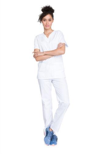 Cherokee Workwear Unisex Top and Pant Set WW530C WHTW White Free Shipping