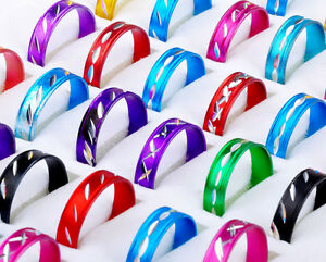 100pcs-Fashion-Wholesale-Jewelry-lots-MixED-Colored-Style-Aluminum-Rings