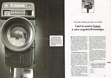PUBLICITE ADVERTISING  1980   CANON   caméra  514 XLS  (2 pages)