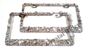 image is loading license plate frame crystal diamond rhinestone bling sparkle