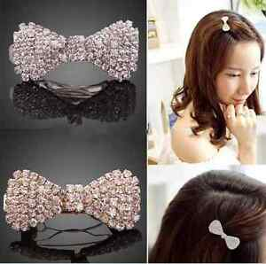 TRENDY-Mignon-Filles-epingle-a-Cheveux-Pince-Cristal-Strass-Pince-a-cheveux-n-ud-Barrette
