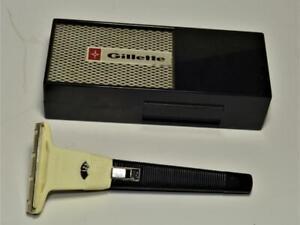 VTG-GILLETTE-Techmatic-Safety-Razor-in-original-box-untested