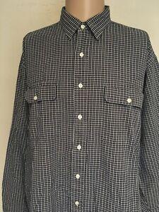 Polo By Ralph Lauren Checked Long Sleeve Seersucker Shirt Navy