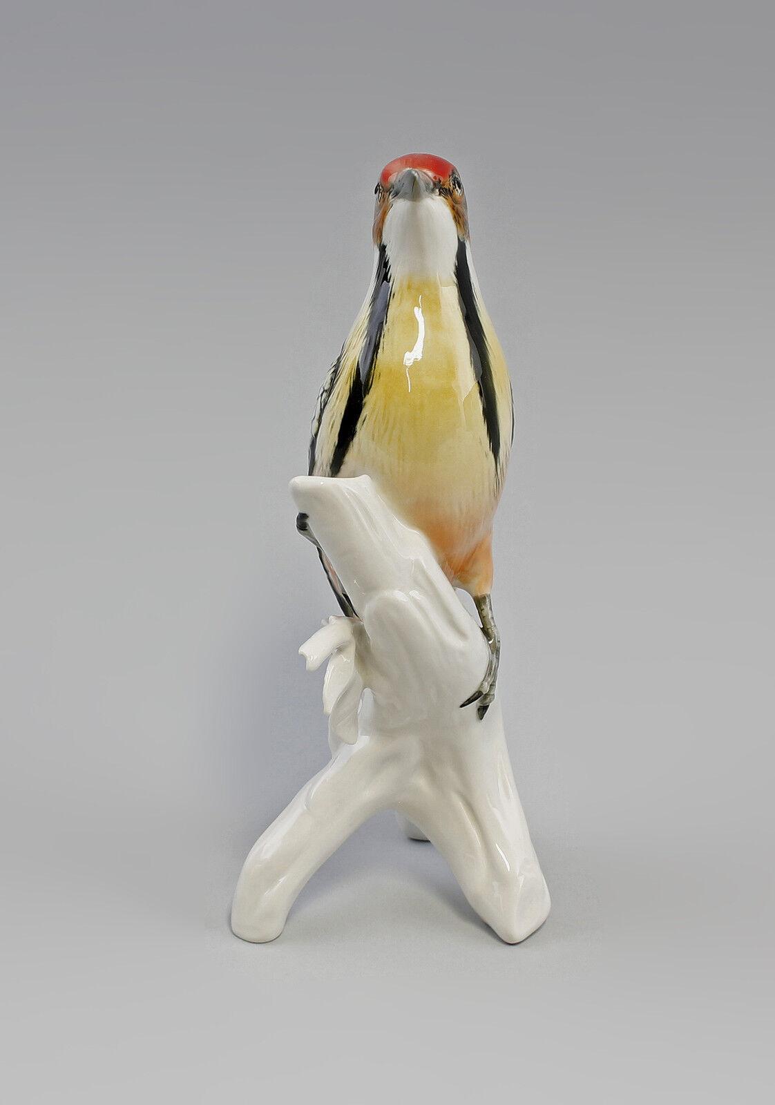Porzellan Figur Figur Figur Vogel Bunt-Specht Ens H25cm 9941629 b74a47