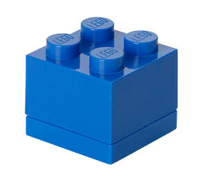 LEGO Storage MINI Snackbox 4 BLAU perfeckt in Brotdose Schule Lunchbox BLUE NEU