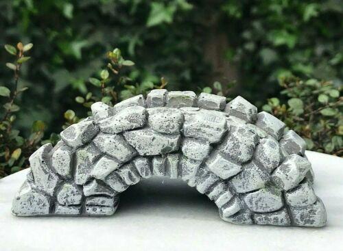 Miniature Dollhouse FAIRY GARDEN Accessories ~ Gray Cobblestone Bridge ~ NEW