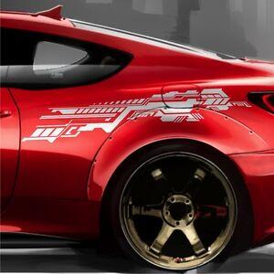2x-Future-Design-Grafik-140cm-Seitenaufkleber-Autoaufkleber-Tuning-Folie-JDM-S39