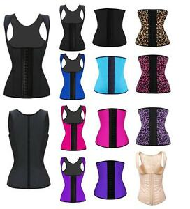 c0fc1825be Image is loading Women-Latex-Rubber-Waist-Trainer-Cincher-Underbust-Corset-