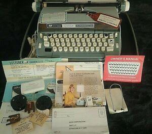 Vintage SCM Smith Corona Coronet Electric Typewriter with Case Books Key Tags