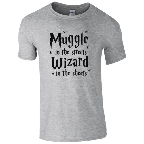 Muggle In The Streets Wizard In The Sheets T-Shirt Funny Geek Gift Mens Top