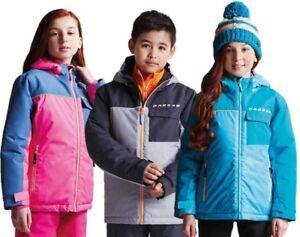 Dare-2B-Enfants-Bouffon-Impermeable-Isole-Veste-Ski-Rose-Bleu-ou-Gris-DKP355