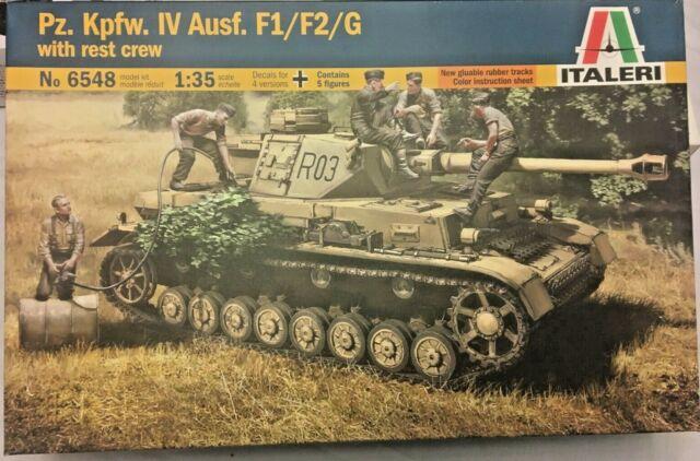 Italeri 6548-1//35 Pz.Kpfw.IV Ausf.F1//F2//G Early with rest crew Neu