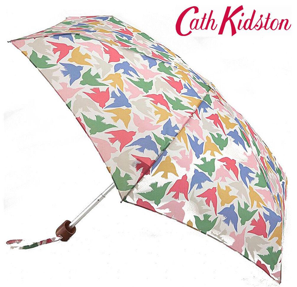 Cath Kidston Small Graphic Bird Tiny Folding Umbrella & Cover Handbag Size S3129