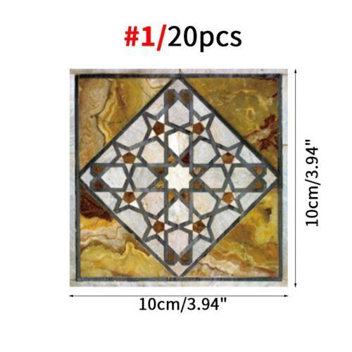 20pcs Dalle Autocollants diagonale auto-adhésive sol Autocollant mural étanche autocollant