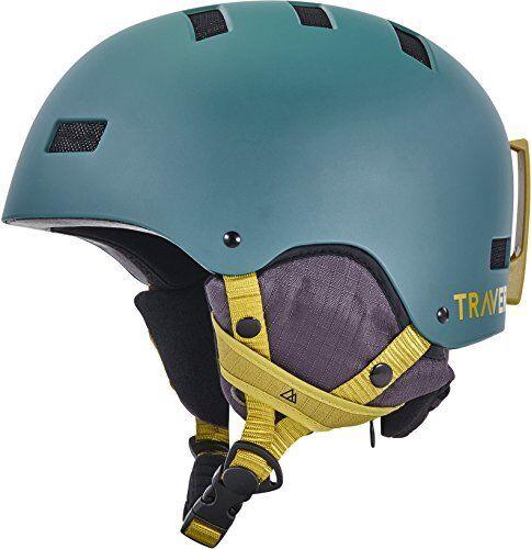 Traverse Sports Dirus Congreenible Ski & Snowboard Bike & Helmet, Matte Cypress,