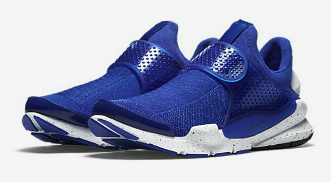 Nike Men's Sock Dart SE Sneakers Racer Blue White 833124-401 Brand New