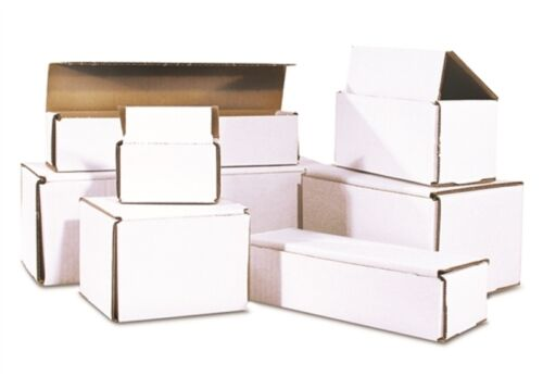 5x4x3 White Corrugated Shipping Mailer Packing Cardboard Boxes Mailing Carton 50