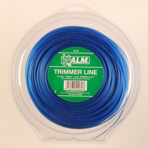 ALM 1.5mm x 180M Bulk Blue British Made Trimmer//Strimmer Line Flymo//Bosch SL006