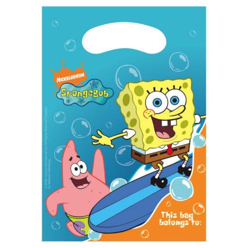 Boys Girls Birthday Party Spongebob Squarepants Themed Loot Bag Lunch Bags Gift