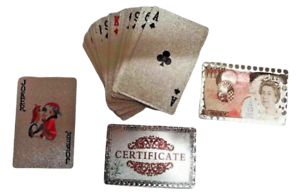 UK Stock Pure Silver Plated Playing Cards Poker Game Bridge Deck