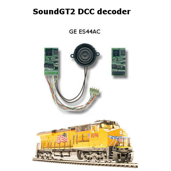 GEVO-12 Diesel SoundGT2 DCC decoder for GE ES44AC MTH, Athearn Genesis