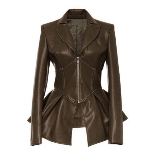 Ladies Coat Women/'s Tops Faux Leather Plus Size Coat Vintage Tops Gothic