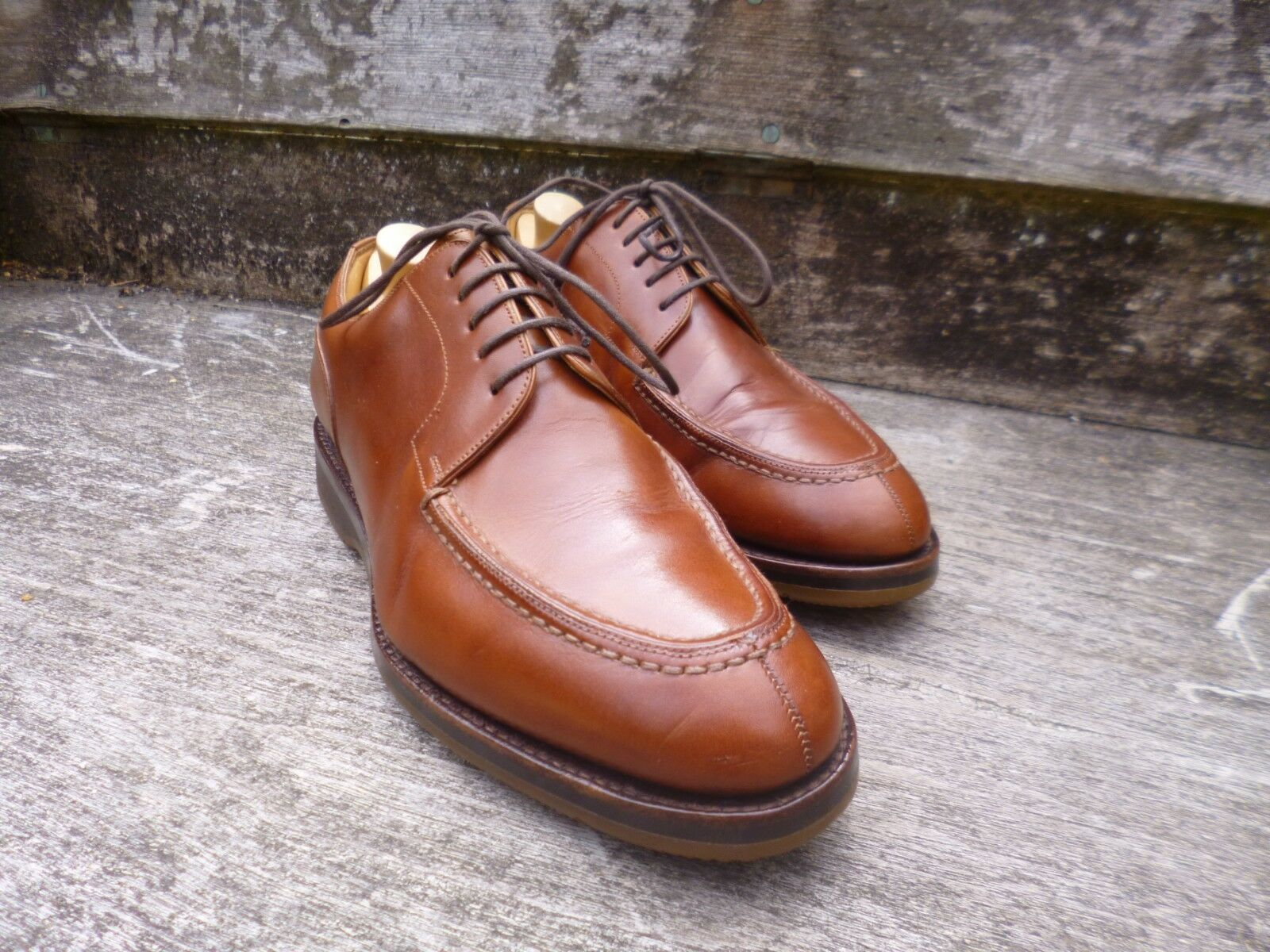 Shipton e heneage split-toe derby – Marronee Tan – – Ottime condizioni Sautope classeiche da uomo
