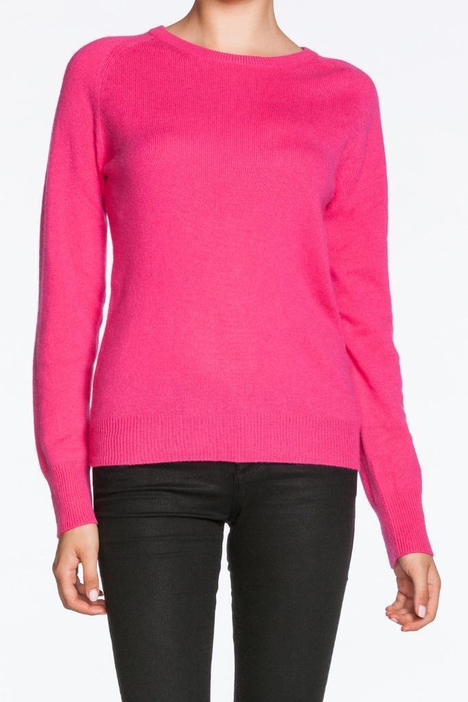 Equipment Sloane Crewneck Cashmere Sweater Fuchsia Rosa Top Blouse Warm knit NEW
