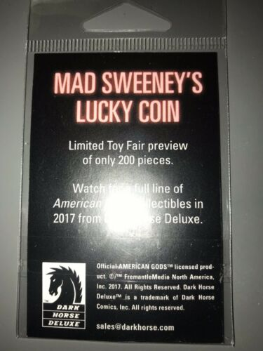 American Gods Mad Sweeney's Lucky Coin Official Toyfair Le /200 Pcs Neil Gaiman by Ebay Seller
