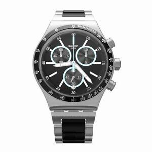 Caricamento dell immagine in corso Orologio-Swatch-IRONFRESH-YVS434G-watch- uomo-NERO-ACCIAIO- 271f11418dc2
