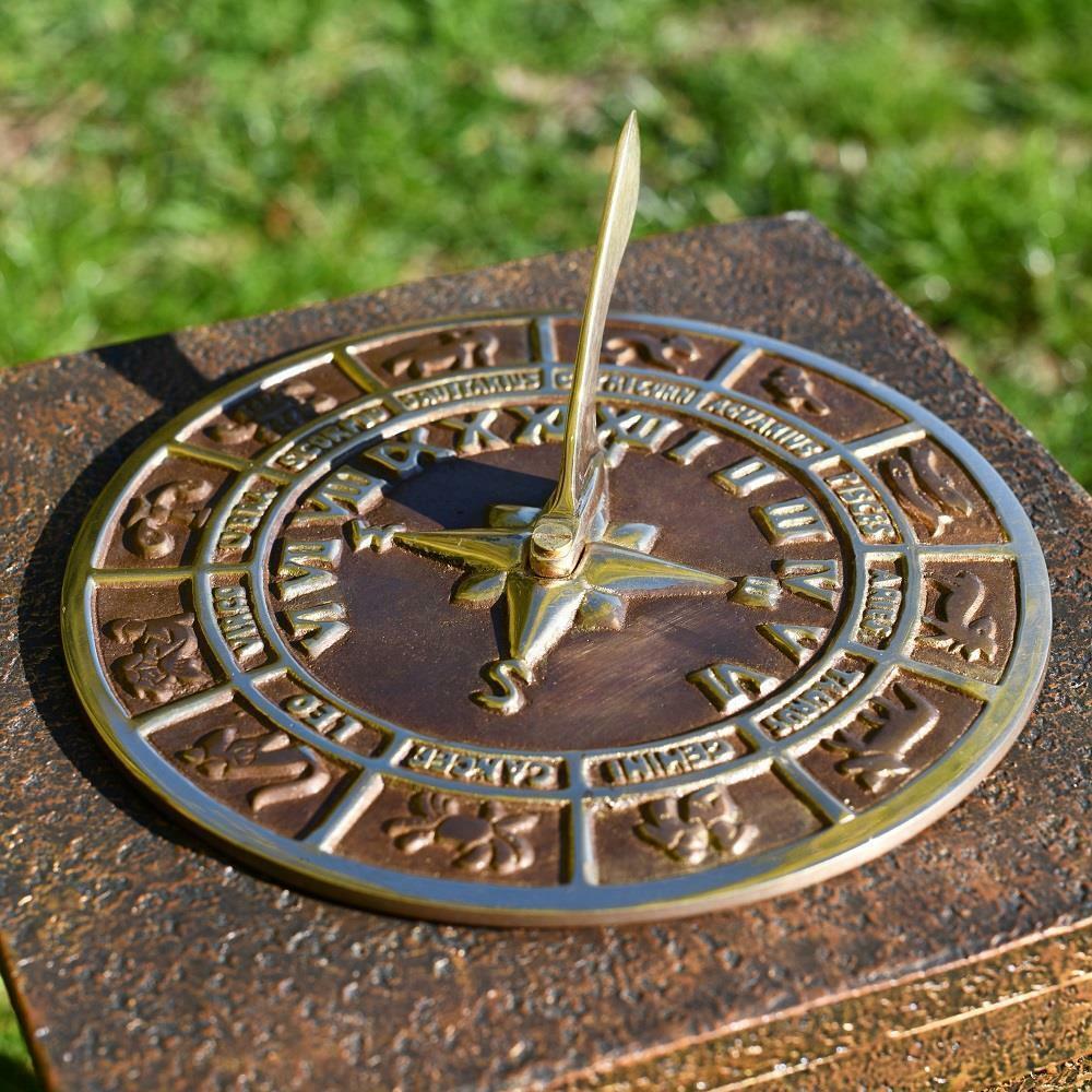 Horóscopo reloj de sol 230mm (9 ) de diámetro