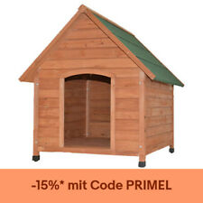 Hundehütte Massivholz 3 Größen mit aufklappbarer Dachluke