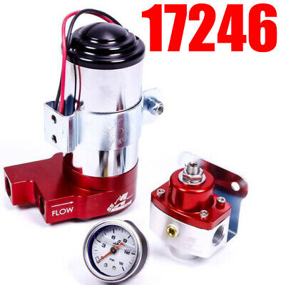 Aeromotive 17246 Regulator Gauge Kit 3//8-NPT SS Carbureted Pump